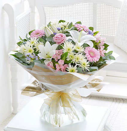 Delaneys-Flower-Shop-Best-Sellers---Country-Garden-Hand-tied-€43,-€56,-€69